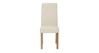 Chateaux Cream Faux Leather Dining Chair