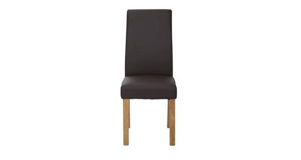 Chateaux Brown Faux Leather Dining Chair