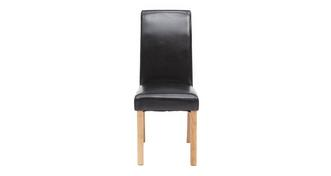 Chateaux Black Faux Leather Dining Chair