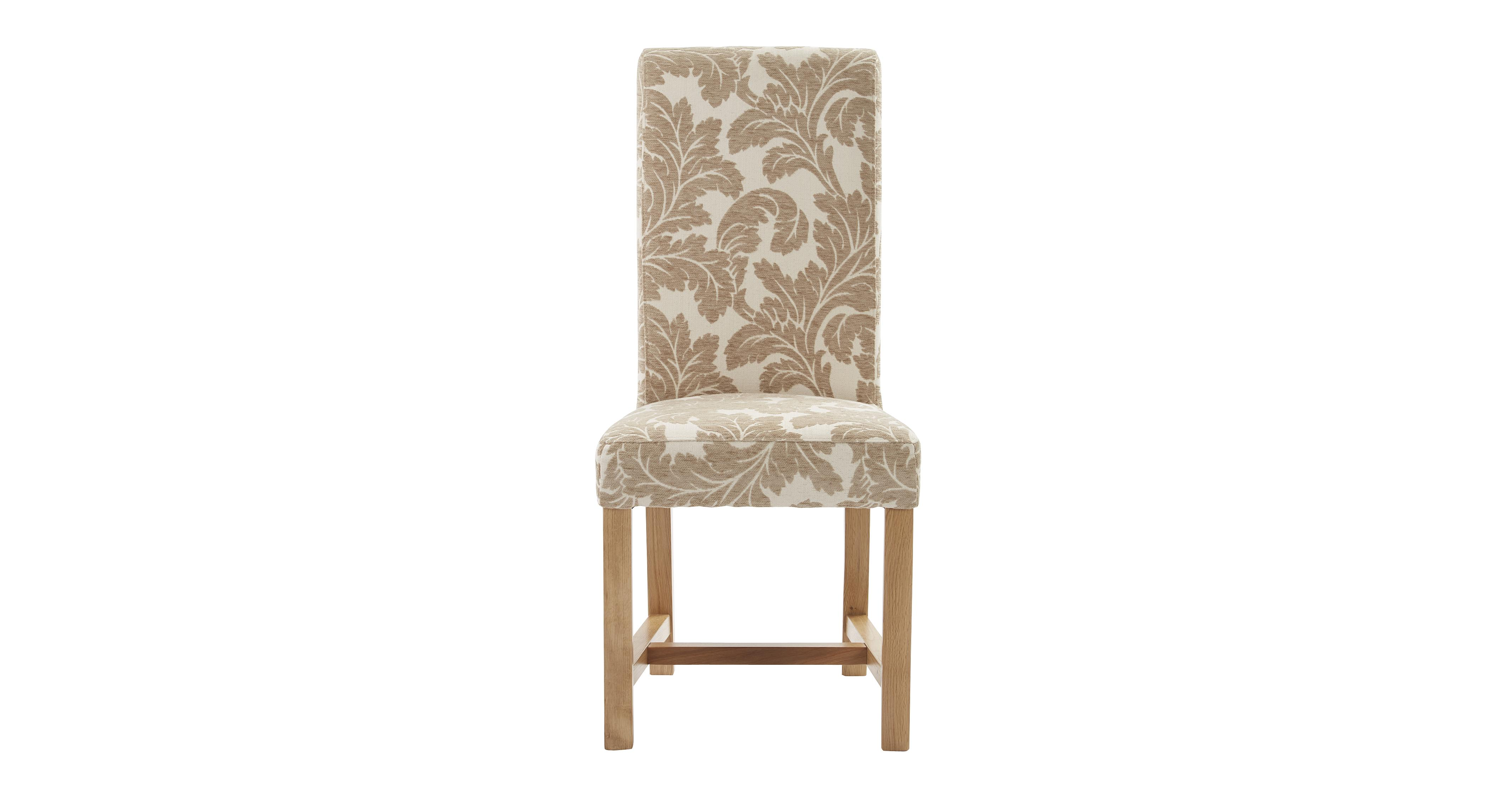 Chateaux chicago floral upholstered dining chair chicago for Printed upholstered dining chairs