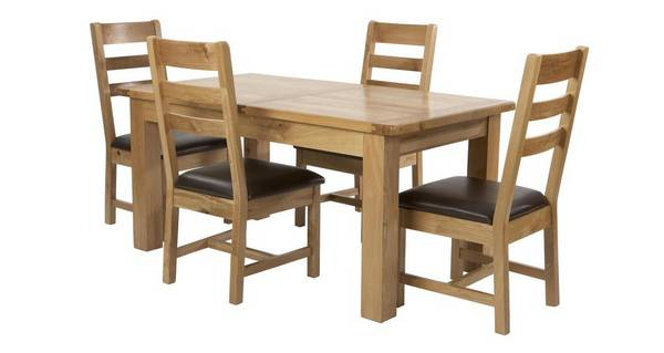 Chateaux Small Extending Table and Set of 4 Ladder Back Chairs