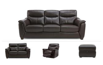 Chelm Clearance 3 Seater Sofa, 2 Seater, Power Recliner Chair & Footstool Premium
