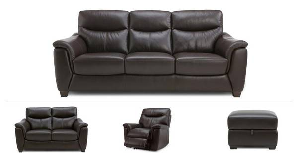 Chelm Clearance 3 Seater Sofa, 2 Seater, Power Recliner Chair & Footstool