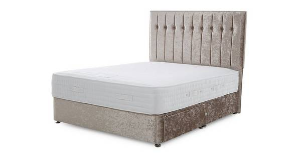 Chelsea Double 2 Drawer Bed (Crush)