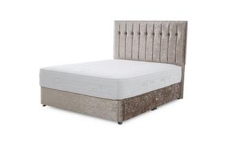 King (5 ft) 2 Drawer Bed (Crush) Crush Fabric