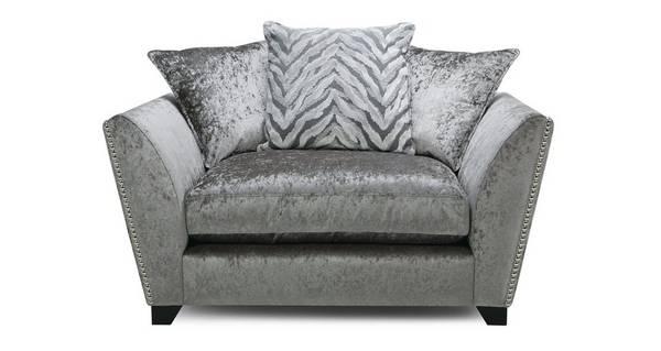 Cheska Pillow Back Cuddler Sofa