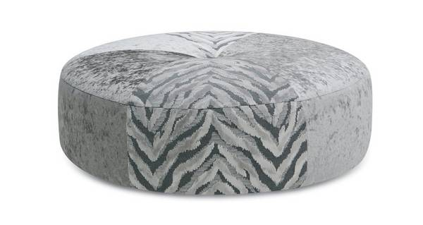 Cheska Round Pattern Footstool