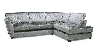 Cheska Formal Back Left Hand Facing Arm Medium Corner Sofa