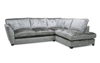 Formal Back Left Hand Facing Arm Medium Corner Sofa Cheska