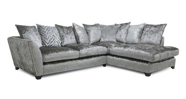 Cheska Pillow Back Left Hand Facing Arm Medium Corner Sofa