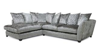 Cheska Pillow Back Right Hand Facing Arm Medium Corner Sofa