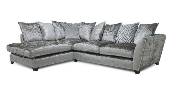 Cheska Pillow Back Right Hand Facing Arm Medium Corner Sofa