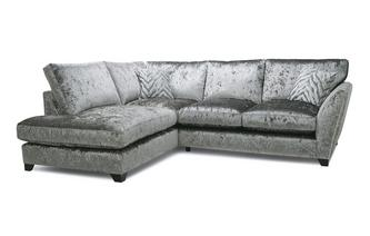 Formal Back Right Hand Facing Arm Small Corner Sofa Cheska