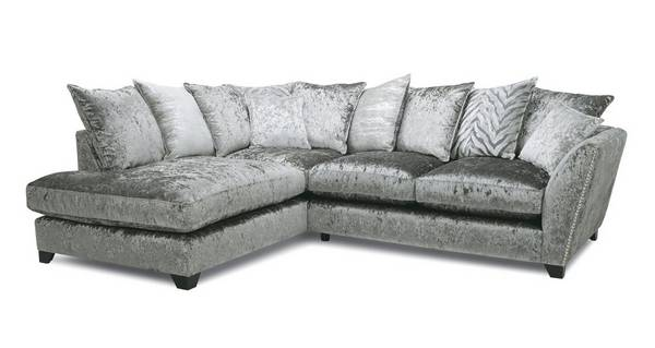 Cheska Pillow Back Right Hand Facing Arm Small Corner Sofa