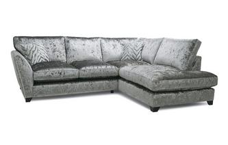 Formal Back Left Hand Facing Arm Small Corner Sofa Cheska