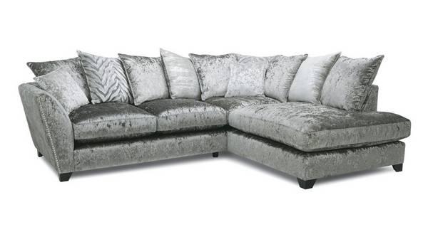 Cheska Pillow Back Left Hand Facing Arm Small Corner Sofa