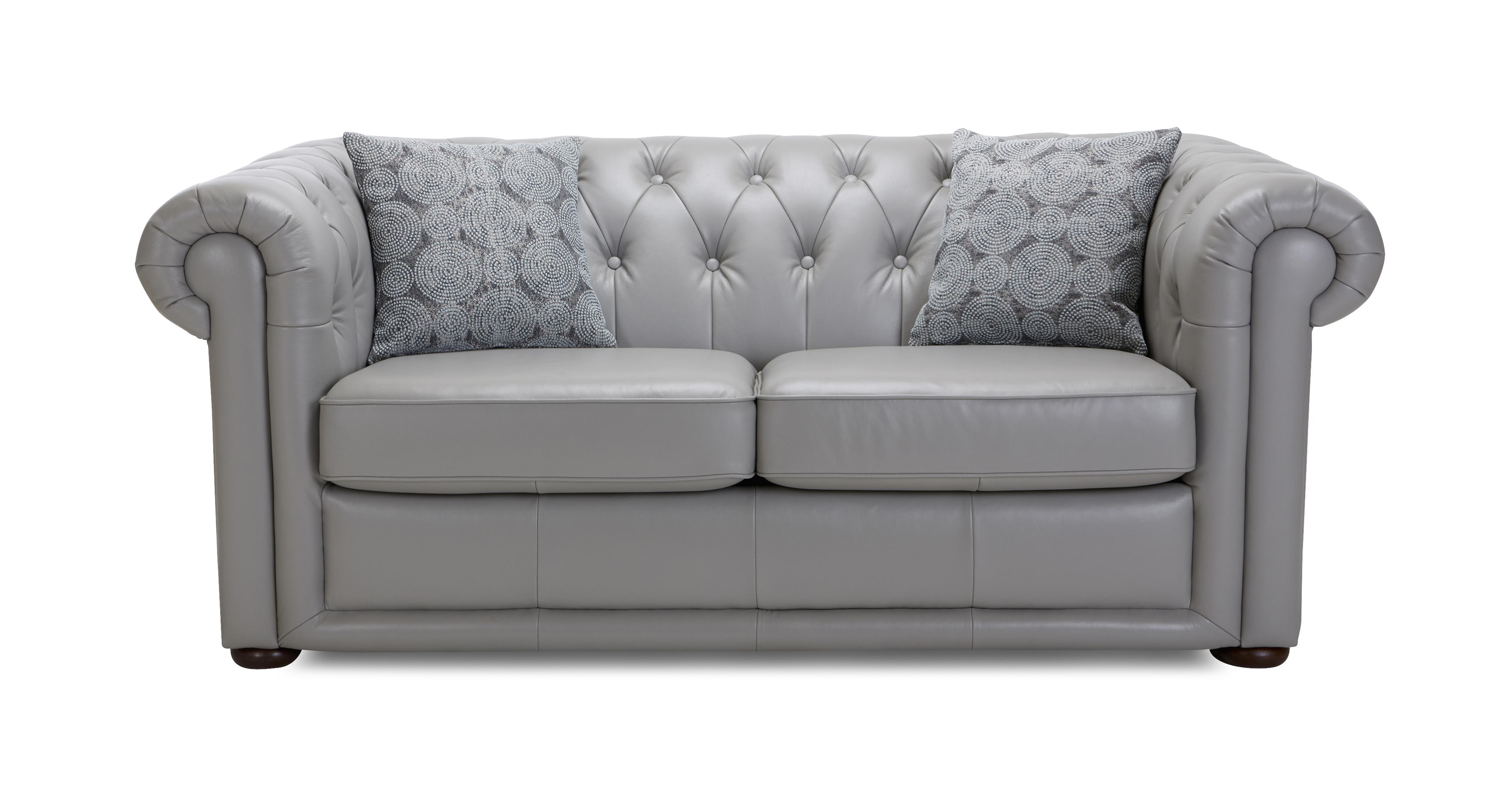 Chester Leather 2 Seater Sofa Bed Brooke | DFS