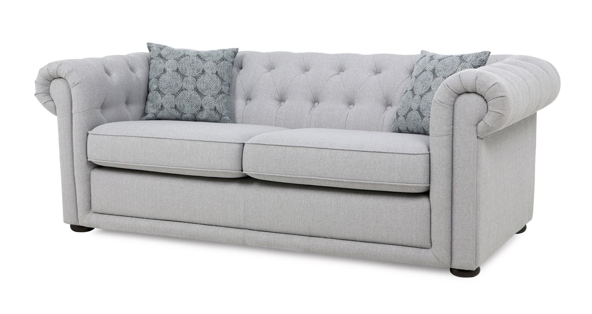 Dfs Chester Ash Fabric Plain 3 Seater 2 Seater Sofa Bed