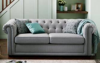 Chester Leather 3 Seater Sofa Brooke