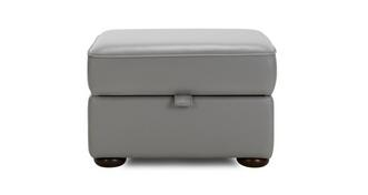 Chester Leather Storage Footstool