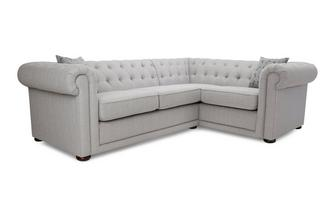 Plain Left Hand Facing Arm 2 Seater Corner Sofa Abbey Plain