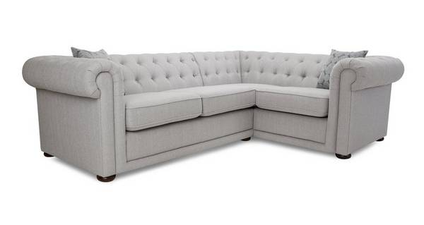 Chester Plain Left Hand Facing Arm 2 Seater Corner Sofa
