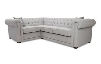 Plain Right Hand Facing Arm 2 Seater Corner Sofa