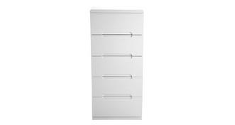 Chic 5 Drawer Narrow Chest