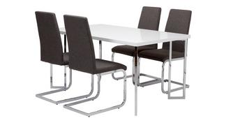 Chic Dining Fixed Top Table and 4 Vitra Chairs