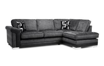 Formal Back Left Hand Facing 3 Seater Open End Corner Sofa