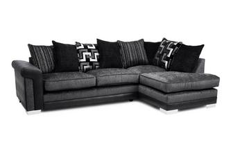 Pillow Back Left Hand Facing 3 Seater Open End Corner Sofa
