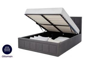 Grey Double Ottoman Bedframe