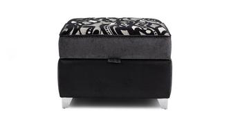 Clara Pattern Top Storage Footstool