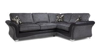 Clara Left Hand Facing 3 Seater Formal Back Corner Sofa