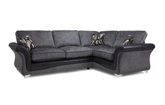 Left Hand Facing 3 Seater Formal Back Corner Sofa Clara