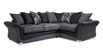Clara Left Hand Facing 3 Seater Pillow Back Corner Sofa