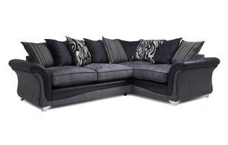 Left Hand Facing 3 Seater Pillow Back Corner Sofa Clara
