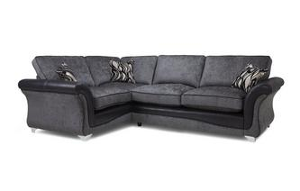 Right Hand Facing 3 Seater Formal Back Corner Sofa Clara