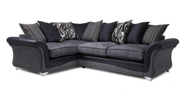 Clara Right Hand Facing 3 Seater Pillow Back Corner Sofa