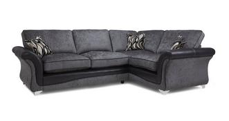 Clara Left Hand Facing 3 Seater Formal Back Deluxe Corner Sofa Bed