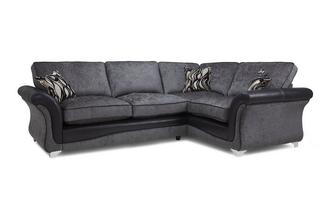Left Hand Facing 3 Seater Formal Back Deluxe Corner Sofa Bed Clara