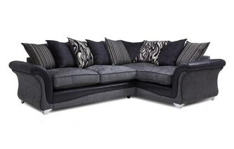 Left Hand Facing 3 Seater Pillow Back Deluxe Corner Sofa Bed Clara