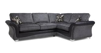 Clara Left Hand Facing 3 Seater Formal Back Supreme Corner Sofa Bed