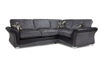 Left Hand Facing 3 Seater Formal Back Supreme Corner Sofa Bed Clara