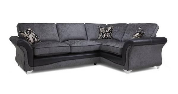 Clara Left Hand Facing 3 Seater Formal Back Supreme Corner Sofa Bed