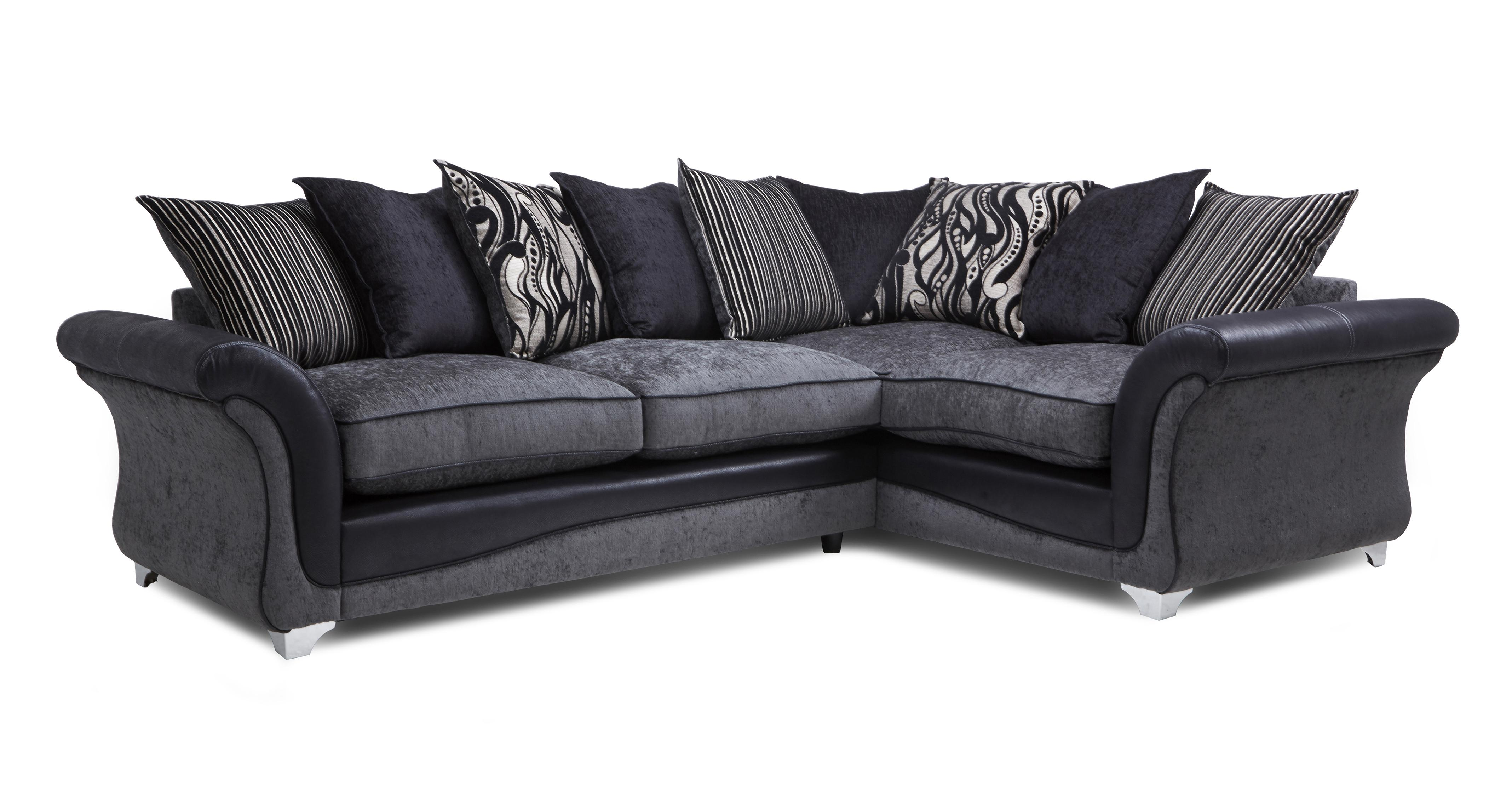 clara left hand facing 3 seater pillow back supreme corner sofa