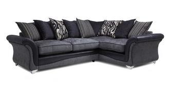 Clara Left Hand Facing 3 Seater Pillow Back Supreme Corner Sofa Bed