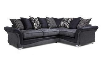 Left Hand Facing 3 Seater Pillow Back Supreme Corner Sofa Bed Clara