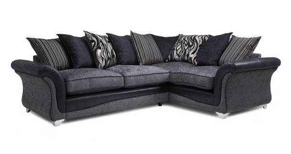 Clara Left Hand Facing 3 Seater Pillow Back Supreme Corner Sofa Bed