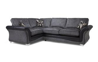 Right Hand Facing 3 Seater Formal Back Deluxe Corner Sofa Bed Clara